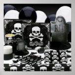 KRW Halloween Decor Poster Skeleton Party