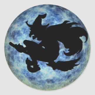 KRW Halloween Moon Witch Shadow Stickers
