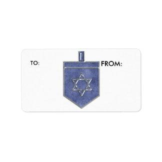 KRW Hanukkah Dreidel To and From Label