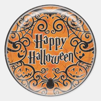 KRW Happy Halloween Scroll Design Sticker