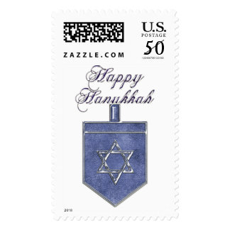 KRW Happy Hanukkah Dreidel Stamp