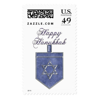 Krw Happy Hanukkah Dreidel Stamp at Zazzle
