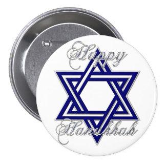 KRW Happy Hanukkah Star of David Button