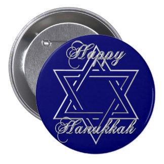 KRW Happy Hanukkah Star of David Pinback Button