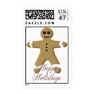 KRW Happy Holidays Gingerbreadman Stamp