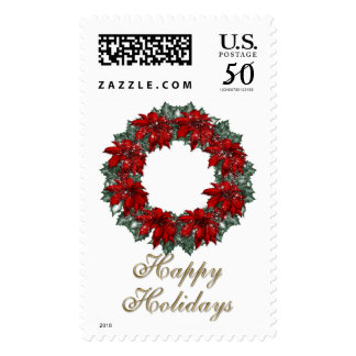 KRW Happy Holidays Wreath Stamp