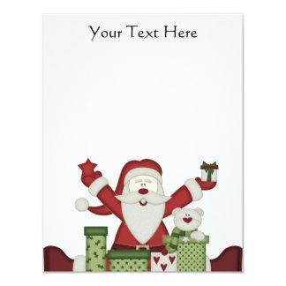 KRW Happy Santa Holiday 4.25x5.5 Custom Invitation