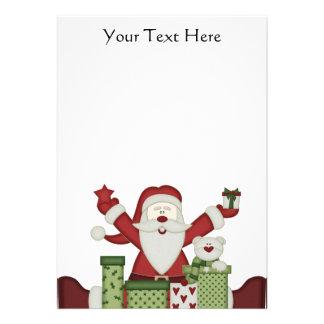 KRW Happy Santa Holiday 5x7 Custom Invitation