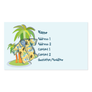 KRW Hawaiian Shirt Custom Business Card