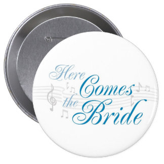 KRW Here Comes the Bride Button - Pin
