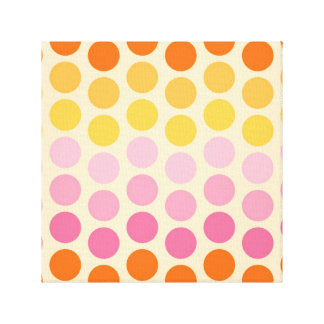 KRW Hip Orange and Pink Spots Wrapped Canvas Art