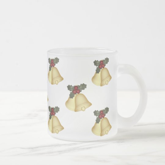 KRW Holly Bells Christmas Frosted Mug