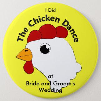 KRW Huge Custom Funny Chicken Dance Wedding Button