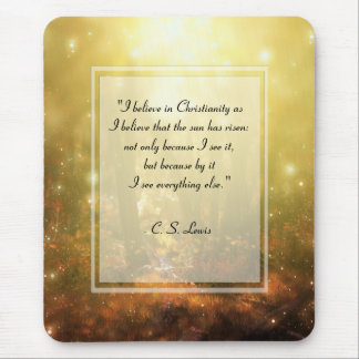 KRW I Believe in Christianity Quote Mouse Pad