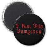 KRW I corrido con los vampiros que gotean sangre Imán Redondo 5 Cm