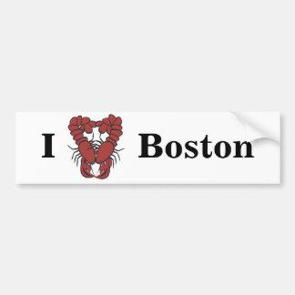 KRW I Love Boston Fun Lobster Bumper Stickers