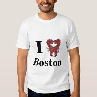 KRW I Love Boston Fun Lobster Shirt