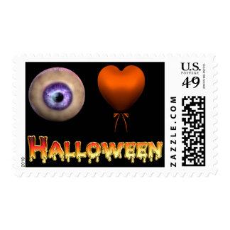 KRW I Love Halloween Postage Stamp