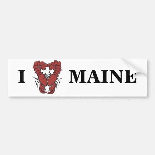 Krw I Love Maine Fun Lobster Car Bumper Sticker Zazzle