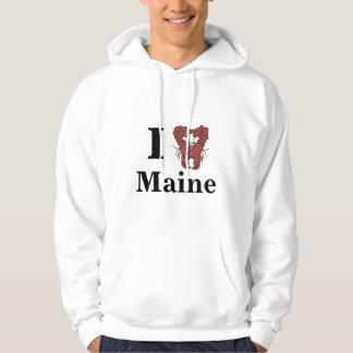 KRW I Love Maine Fun Lobster Hoodie