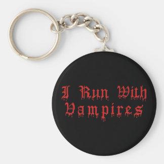 KRW I Run With Vampires Dripping Blood Keychain