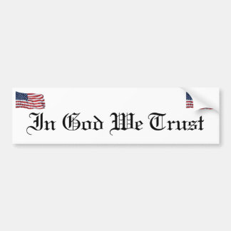 KRW In God We Trust Bumper Sticker