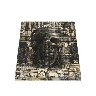 KRW Industrial Death Sci-Fi Art Wrapped Canvas
