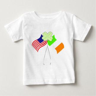 KRW Irish American Flags and Shamrock Baby T-Shirt
