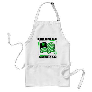 KRW Irish American Green Flag Apron