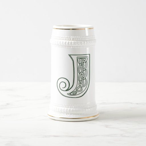 KRW - J - Celtic Monogrammed Stein 18 Oz Beer Stein