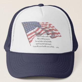 KRW J F Kennedy Quote Trucker Hat
