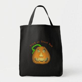 KRW Jack O Lantern Halloween Trick or Treat Tote Bag
