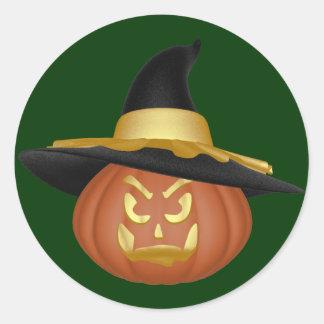 KRW Jack O Lantern Witch Halloween Sticker