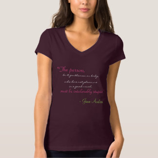 KRW Jane Austen Book Lovers Quote Shirt
