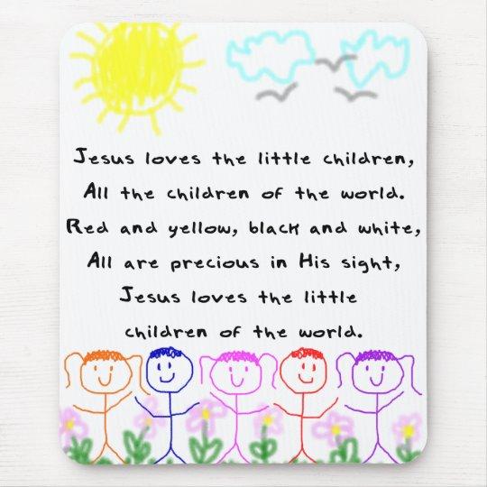 KRW Jesus Loves the Little Children Mouse Pad