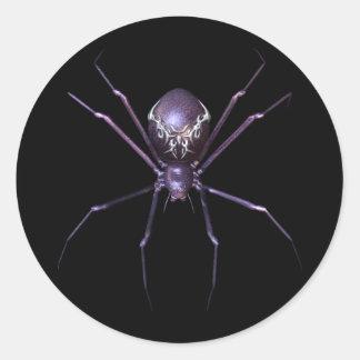 KRW Jeweled Spider Halloween Round Stickers