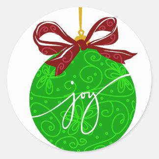 KRW Joy Christmas Ornament Round Sticker