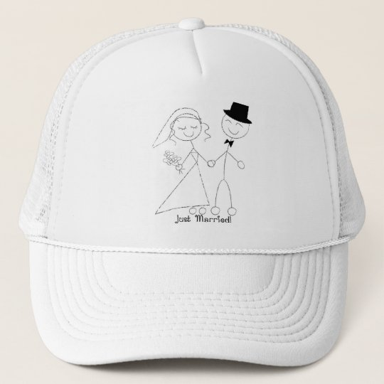 KRW Just Married Hat White