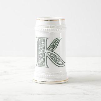 KRW - K - Celtic Monogrammed Stein 18 Oz Beer Stein