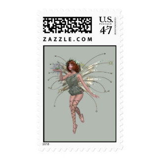 KRW Kiss the Frog Red Head Faery Stamp