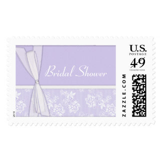 KRW Lace and Bows Lavender Bridal Shower Postage