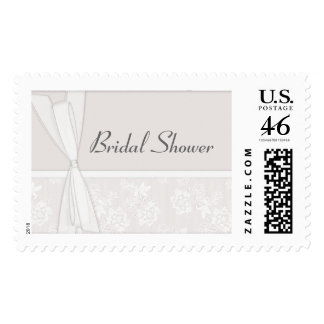 KRW Lace and Bows Pearl Bridal Shower Postage Stamps