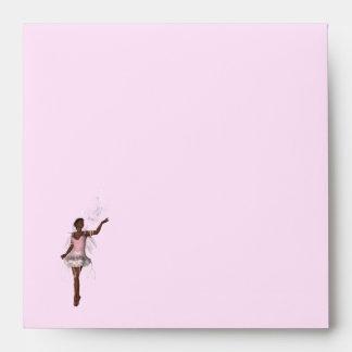 KRW Lana Fairy Fantasy Square Pink Envelope
