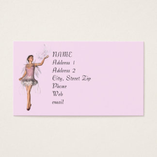 KRW Lana Pink Fairy Fantasy Custom Business Card