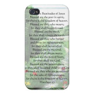 KRW las ocho beatitudes de Jesús G4 iPhone 4/4S Fundas