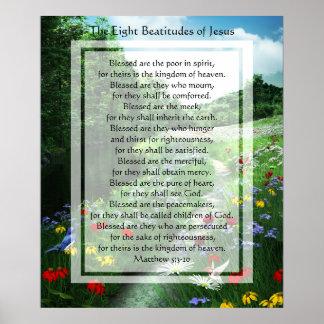 KRW las ocho beatitudes de la impresión de Jesús Póster