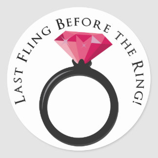 KRW Last Fling Before the Ring Pink Black Sticker