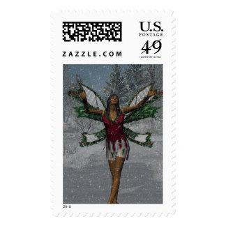KRW Let It Snow Christmas Faery Stamp