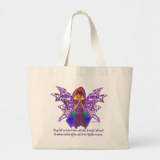 KRW LGBT Acceptance Red Head Faery Large Tote Bag