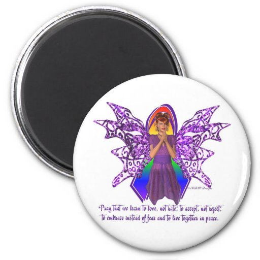 KRW LGBT Acceptance Red Head Faery Refrigerator Magnets